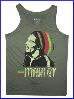 Men Tank Top REGGAE Jamaica Music Marijuana Ganja Weed Rasta Vintage