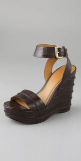 KORS Michael Kors Vienna Seamed Wedge Sandals