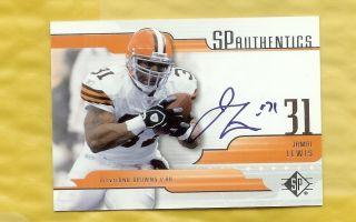 2008 SP Authentics Jamal Lewis Auto Autograph Cleveland Browns Nice