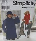 Simplicity 1719 Misses Patty Reed Swing Coat Jacket Hat Sewing Pattern