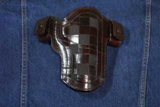 Colt, Springfield, Kimber, Custom James Alan Lined Leather Gun Holster