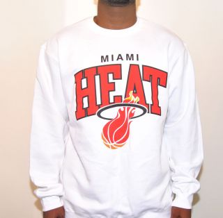 Mitchell Ness NBA Miami Heat Arch Crew Fleece