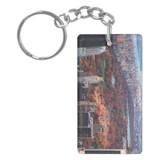 view above Autumn in Central Park 01 Acrylic Key Chains