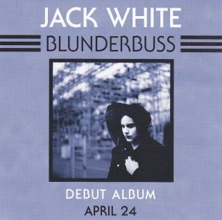 JACK WHITE STICKER Blunderbuss 2012 OFFICIAL PROMO White Stripes MINT