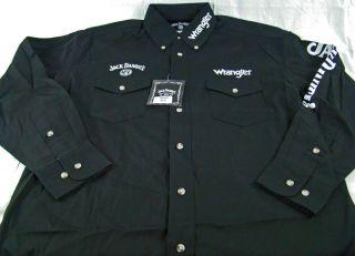 Mens Wrangler Jack Daniels Long Sleeve Western Shirt Any Size M L XL
