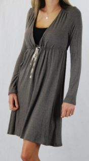 James Perse Soft Jersey Empire Dress Drawstring Taupe 3