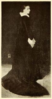 1911 Print James Abbott McNeill Whistler Art Portrait Mrs. Louis Huth