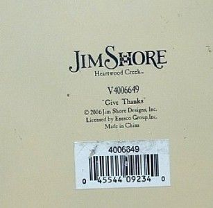 Jim Shore Heartwood Creek GIVE THANKS HARVEST ANGEL Enesco # 4006649