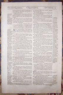 1607 Geneva Folio Roman Letter Bible Leaf Matthew Transfiguration of