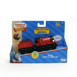 New in Box Wooden Talking James Thomas Tank Engine Train