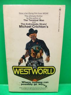 Michael Crichton 1974 Movie PB Book Yul Brynner James Brolin Bantam