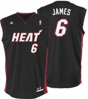 Lebron James Jersey Adidas Revolution 30 Black Replica 6 Miami Heat