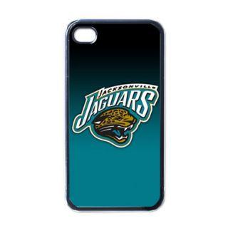 Jacksonville Jaguars Black Hard Case Skin for iPhone 4G