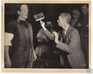 James Whale Brushing Frankenstein B Karloff Snap Shot