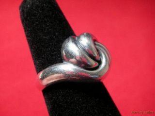James Avery Sterling Swirl Knot Ring Sz 8 Retired