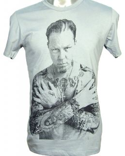 Metallica James Hetfield Tattoo Rock Metal Shirt s XL