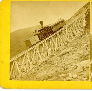NO. 135 JACOBS LADDER, MT. WASHINGTON RAILROAD   The scene shows the