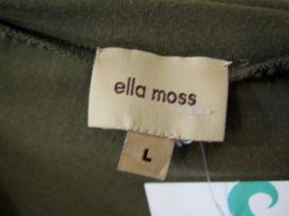 Ella Moss Anthropologie Moss Green Ruched Sleeveless Tank Top Blouse