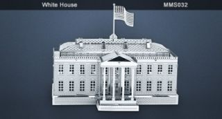 Metal Marvel 3D Laser Cut White House Washington D C Unassembled Model