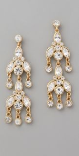Kenneth Jay Lane Gold & Crystal Dangle Earrings