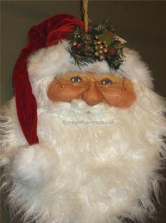 Kurt Adler Jacqueline Kent Smiling Santa Head Glasses Christmas