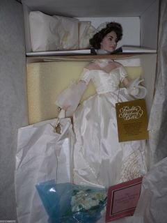 Jackie Jacqueline Kennedy Franklin Mint Wedding Doll Mint in Box W