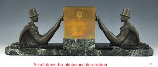 LARGE JACQUES CARTIER BRONZE /MARBLE ART DECO CIGARETTE HOLDER FRENCH