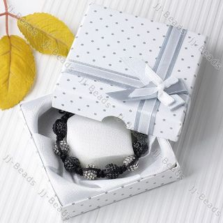 10mm Crystal Disco Ball Beads Bracelet Macrame Box Case Friendship