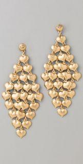Juicy Couture Mini Heart Chandelier Earrings