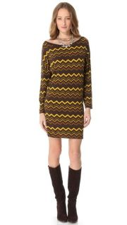 M Missoni Zigzag Long Sleeve Dress