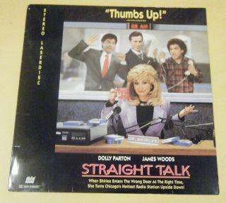 STRAIGHT TALK ~ Laser Disc   Dolly Parton James Woods Michael Madsen