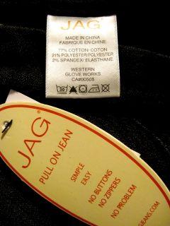 Jag Jeans Celeste Black Five Pocket Stretch Pull on Straight Leg Jeans