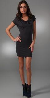 Susana Monaco Double Cowl Neck Dress