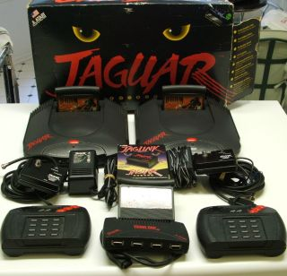 Atari Jaguars 2 Doom Games 2 Controllers Jaglink Team Tap WMCJ Box