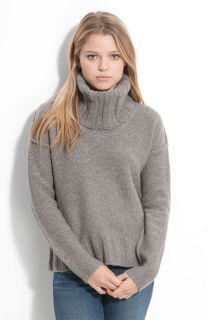 James Perse Boxy Cabled Cowl Neck Sweater 4 $265