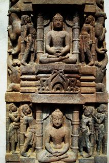 Mahavira Buddha India Jain Statue 12th C Temple Panel Relic
