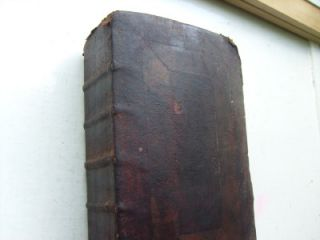 Antique Thickly Leather Bound Bible Prayer Book King James 1819