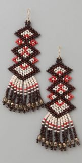 Jacquie Aiche Five Diamond Native American Beaded Earrings
