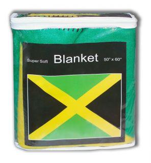 Jamaica Jamaican Flag Fleece Blanket Snuggie Afghan Throw Bob Marley