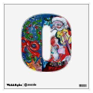 CHRISTMAS O LETTER /SANTA CLAUS WITH VIOLIN WALL DECOR