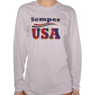 Semper USA Unique Tee America Stripes T Shirt