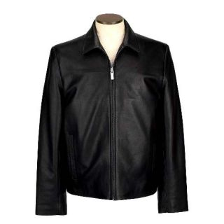 Mens James Dean Black Lamb Leather Jacket 5580