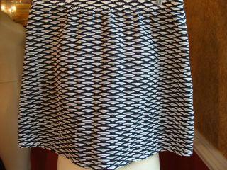 Jamie Sadock Black White Stretchy Textured Skirt Nice L