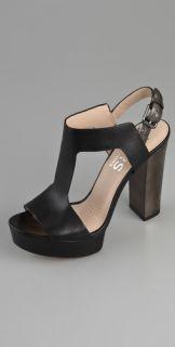 KORS Michael Kors Vernon Platform T Strap Sandals