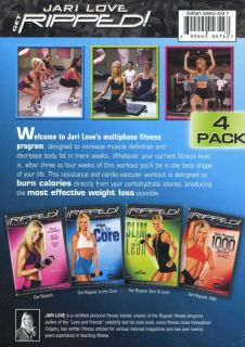 Jari Love Get Ripped 4 DVD Set Core 1000 Slim Lean Get Ripped 1000 New