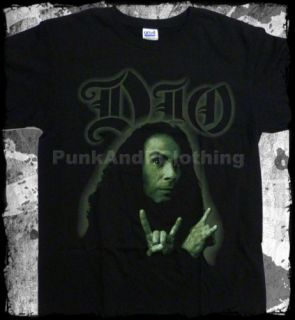 Dio Ronnie James Dio Horns Photo Official T Shirt