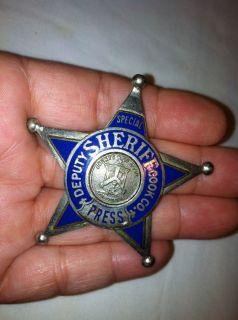 Deputy Sheriff Cook County Star Badge Meyer Wenthe Chicago