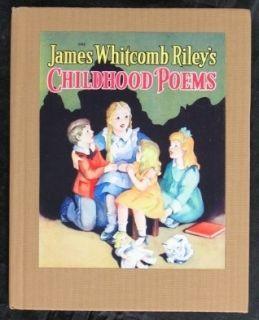 James Whitcomb Rileys Childhood Poems Book 1940