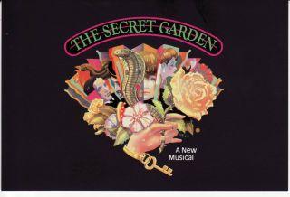 Secret Garden Broadway St James Theater New York City Postcard