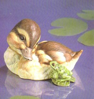 RARE Franklin Mint Porcelain Ahoy Duck Frog Figurine